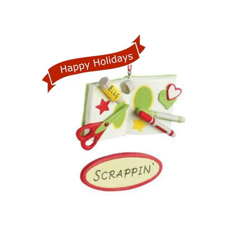 Scrape Book Ornament - Scrappin