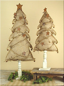 Large Burlap Tree on Base Set