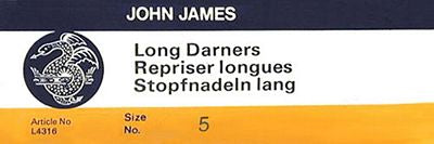 John James Long Darners  #5/7/9 Needles