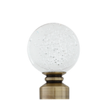 Clear Blown Glass Ball Finial