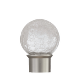 Clear Glass Crackle Ball Finial