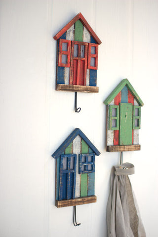 Set of Three Beach Bungalow Cost Hooks