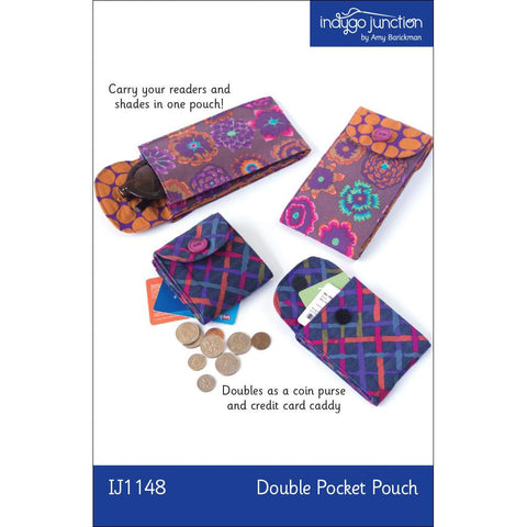 IJ1148 Double Pocket Pouch by Indygo Junction