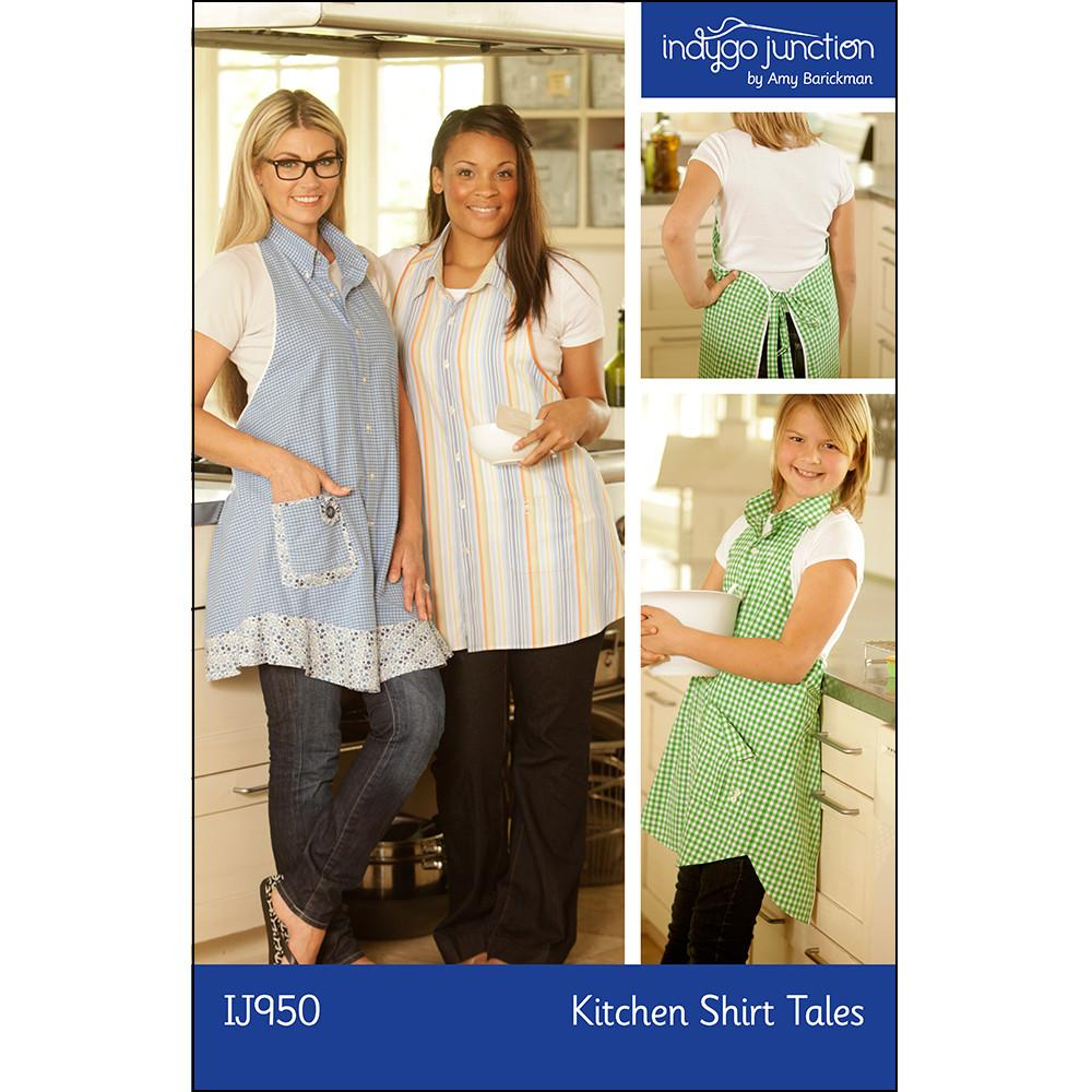 Kitchen Shirt Tales Recycled Apron by Indygo Junction