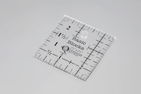"Basic Blocks Ruler - 2 1/2"" x 2 1/2"""