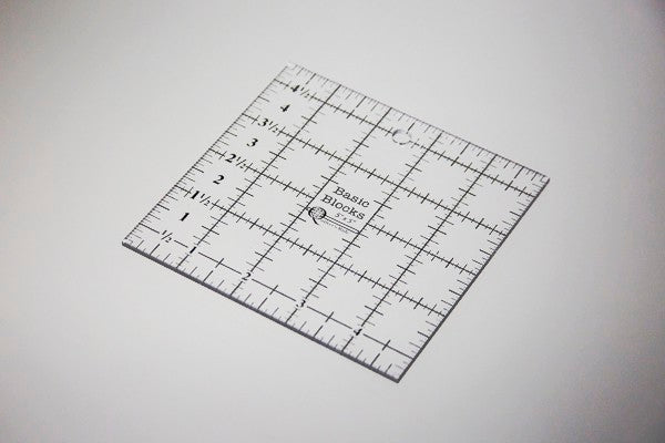 "Basic Blocks Ruler - 5"" x 5"""