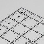"Basic Blocks Ruler - 6"" x 6"""