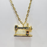 Sewing Machine Pendant Gold