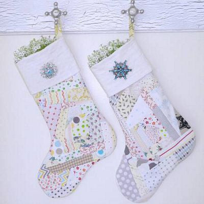 "Christmas Strings 18"" Stocking Pattern"