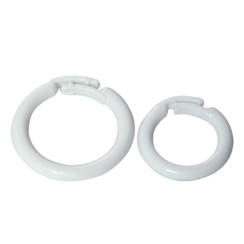 White Split Rings White 2 Sizes