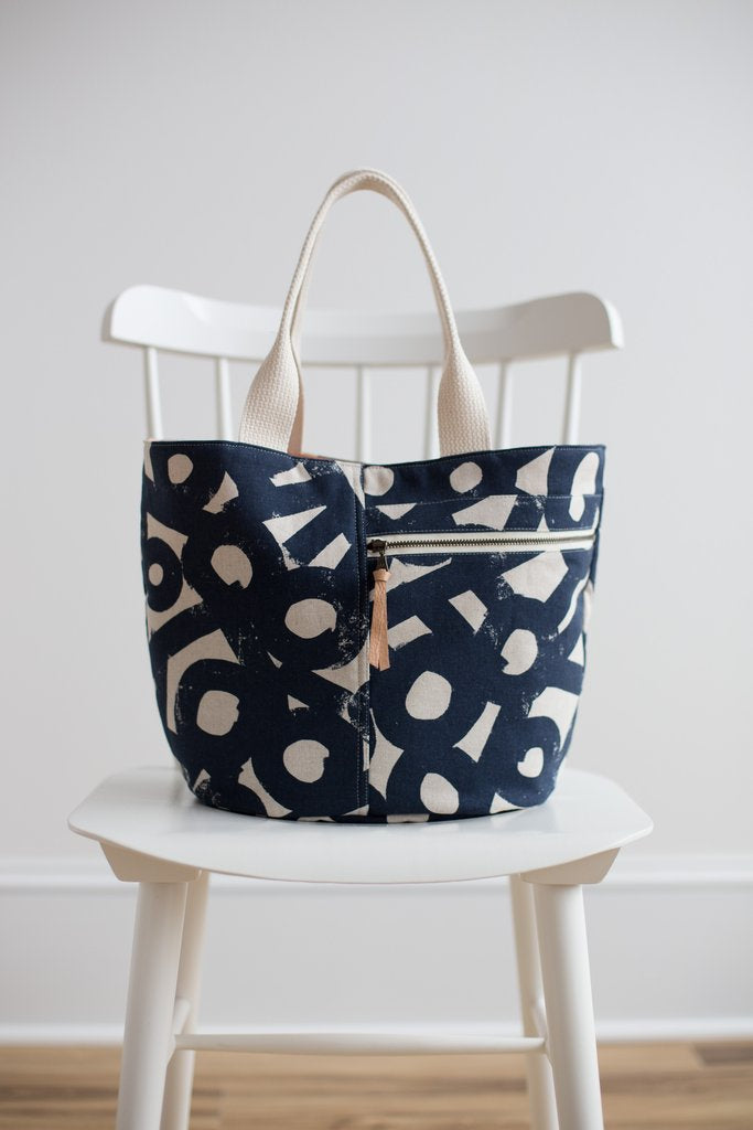 Cresent Tote Paper Pattern