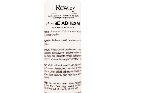16 OZ Bottle Rowley Trim and Fringe Adhesive & Glue