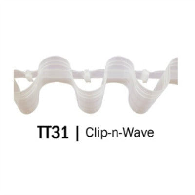 Translucent Clip N Wave Tape - CLEARANCE