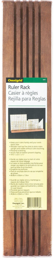 Wooden Ruler Rack