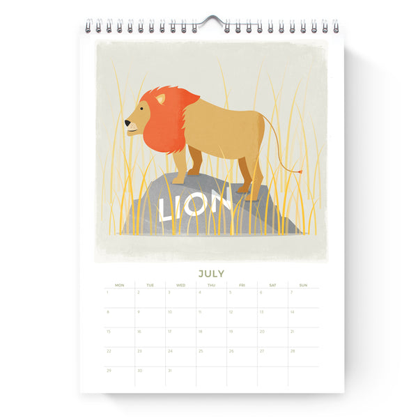 2019 Safari Calendar | Duke & Rabbit