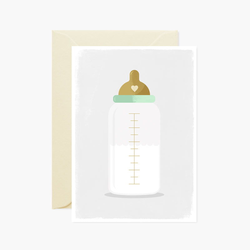 New Baby Bottle Card