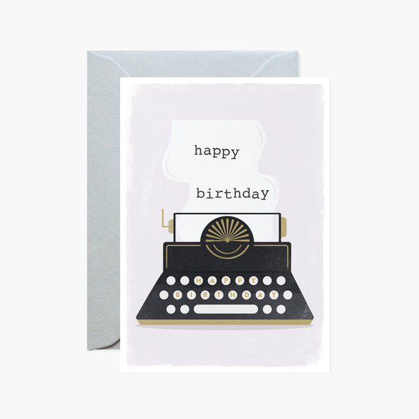 Birthday Typewriter Card