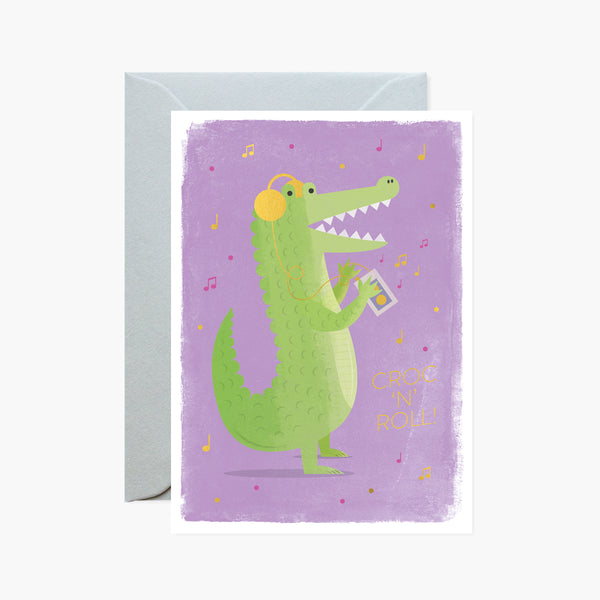 Croc 'N' Roll! Gold Foil Card