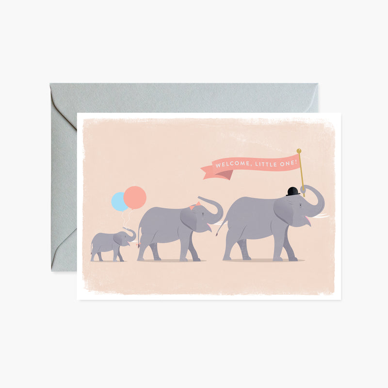 Welcome, Little One! Elephant Parade Card