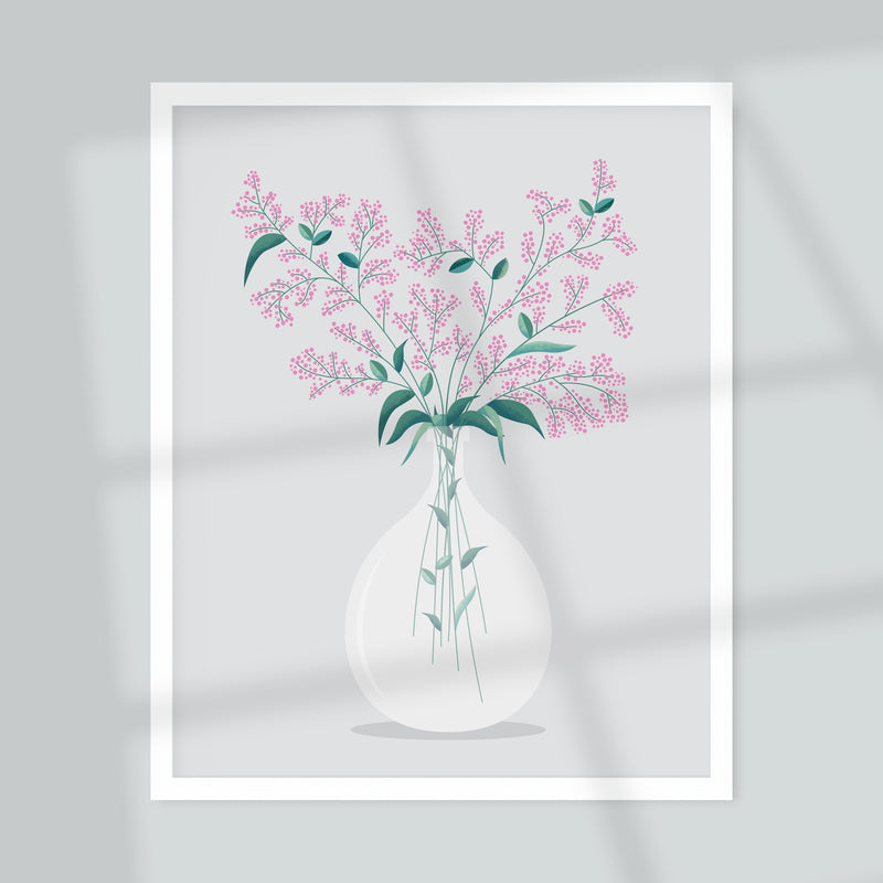 Flowers in Vase No.1 A4 Art Print