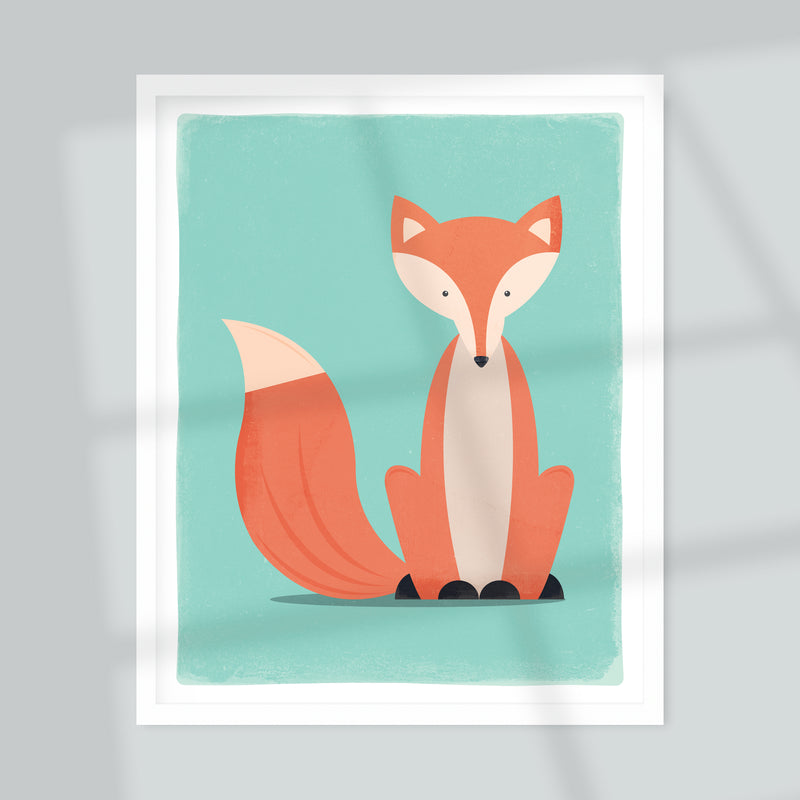 Sitting Fox Giclée Art Print