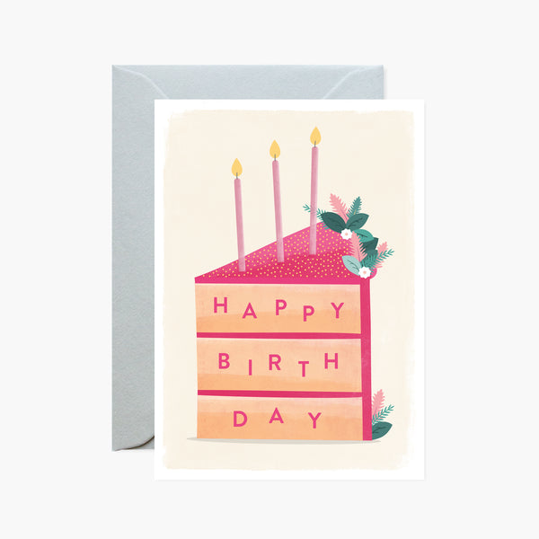 Birthday Cake Slice Card
