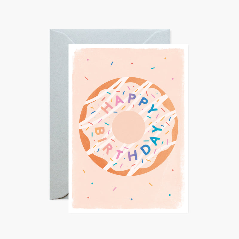 happy birthday doughnut card