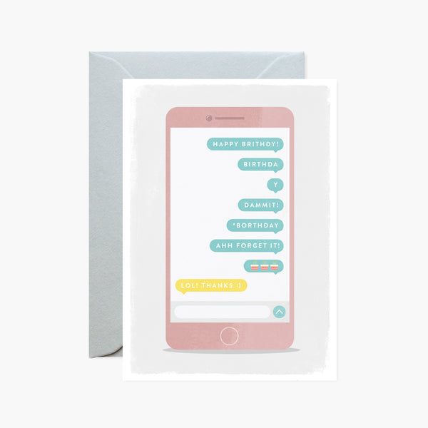 Mobile Phone Emoji Card