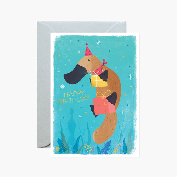 Platypus Presents Gold Foil Card