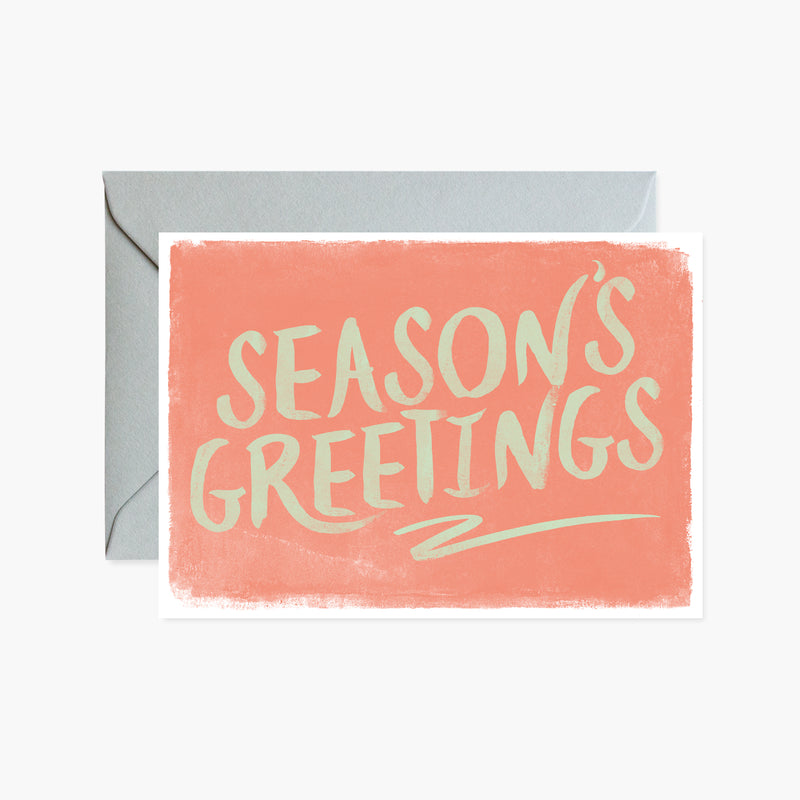 Seasons Greeting Brushed Letters Card