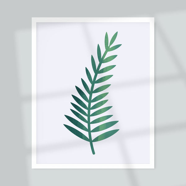 Single Fern Giclée Art Print