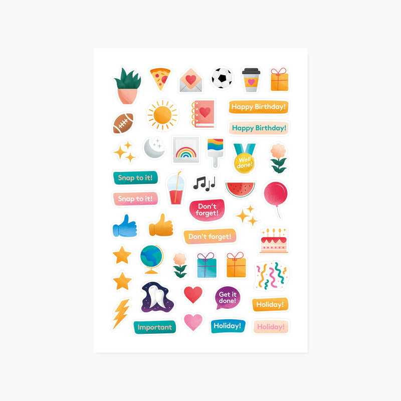 Lifestyle & Celebration Sticker Sheets