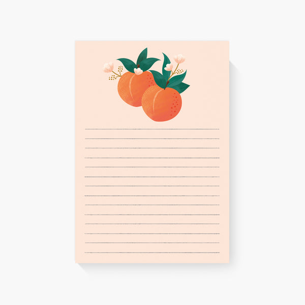 Summer Peaches Lined Notepad