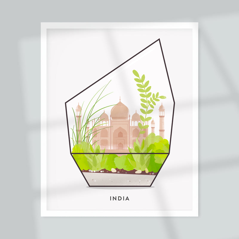 India Terrarium Giclée Art Print