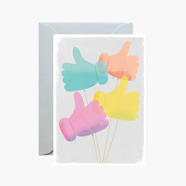Thumb Balloons Good Luck / Congrats Card