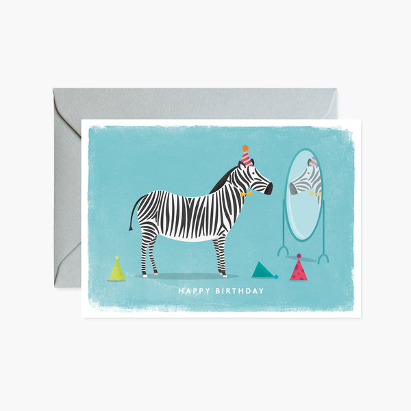 Zebra with Party Hats