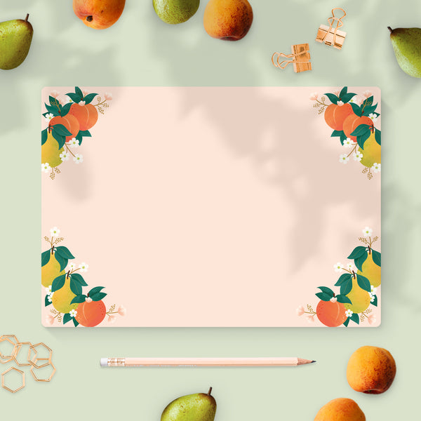 Summer Peaches & Pears Desk Pad