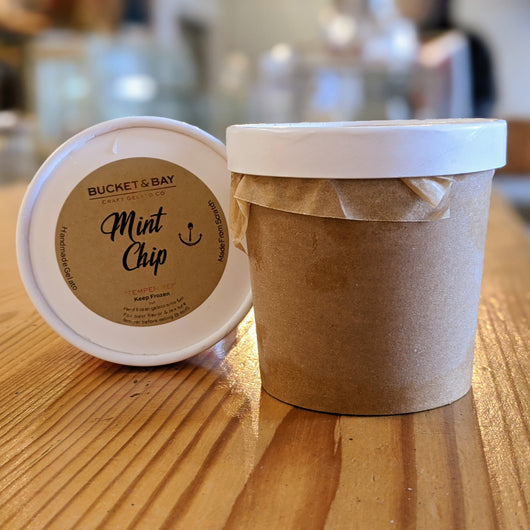 Mint Chip Classic - Pie 66  - concept shop by Bucket & Bay Craft Gelato Co