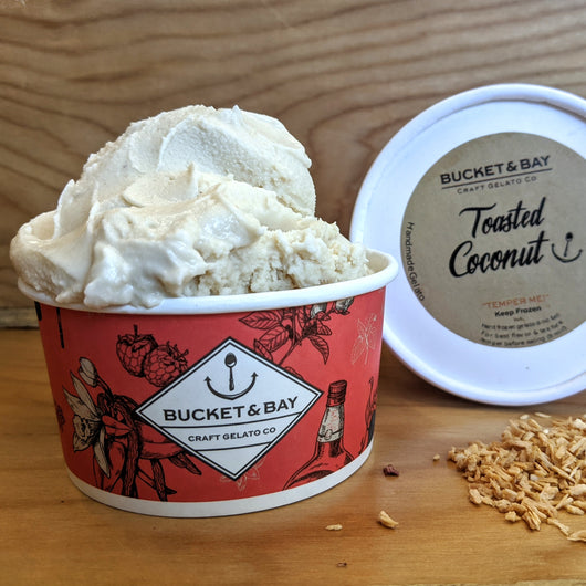 Toasted Coconut - Pie 66  - concept shop by Bucket & Bay Craft Gelato Co