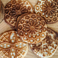 Flat Cones = Gluten-free Pizzelles (x5) - Pie 66  - concept shop by Bucket & Bay Craft Gelato Co