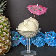 Stemmed Vintage  Ice Cream Dish - Glass