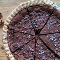 Salted Chocolate Crackle Pie