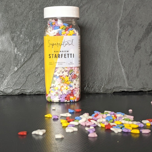 Rainbow Starfetti Sprinkles (NO artificial Dyes)