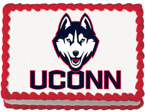 Connecticut Huskies Edible Cake, Cupcake & Cookie Topper