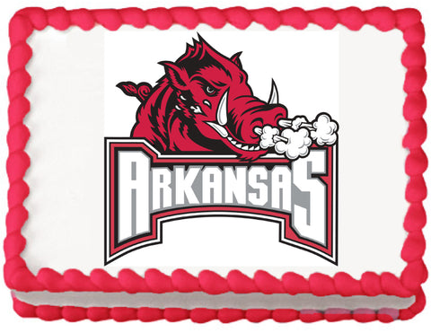 Arkansas Razorbacks Edible Cake, Cupcake & Cookie Topper