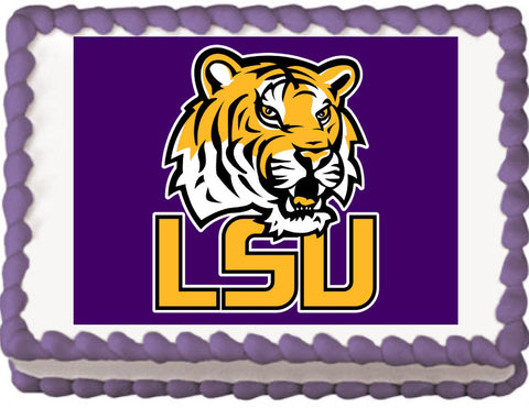 Louisiana State Tigers Edible Cake, Cupcake & Cookie Topper