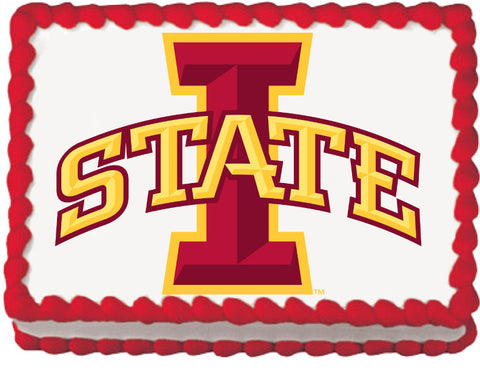 Iowa State Cardinals Edible Cake, Cupcake & Cookie Topper