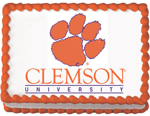 Clemson Tigers Edible Cake, Cupcake & Cookie Topper