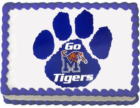 Memphis Tigers Paw Edible Cake, Cupcake & Cookie Topper