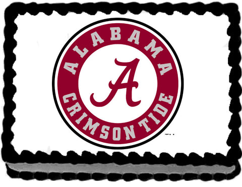 Alabama Crimsin Tide Edible Cake, Cupcake & Cookie Topper